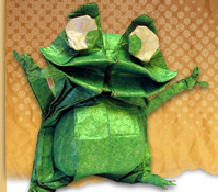 Origami frog by Nicholas Terry